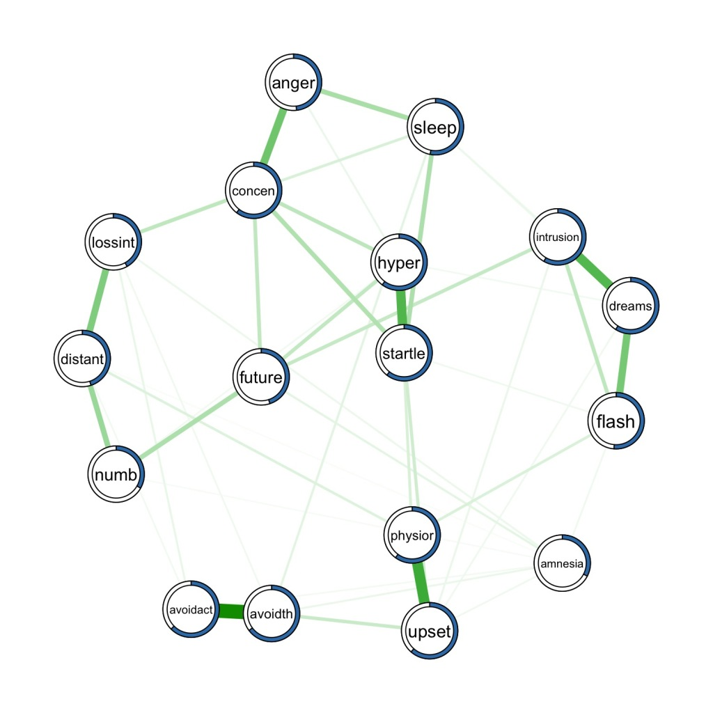 Estimated network and